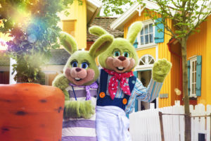 The bunnies at Liseberg are not only the park's mascot but also a children's favorite. My son loves to hug them. Photo: Liseberg