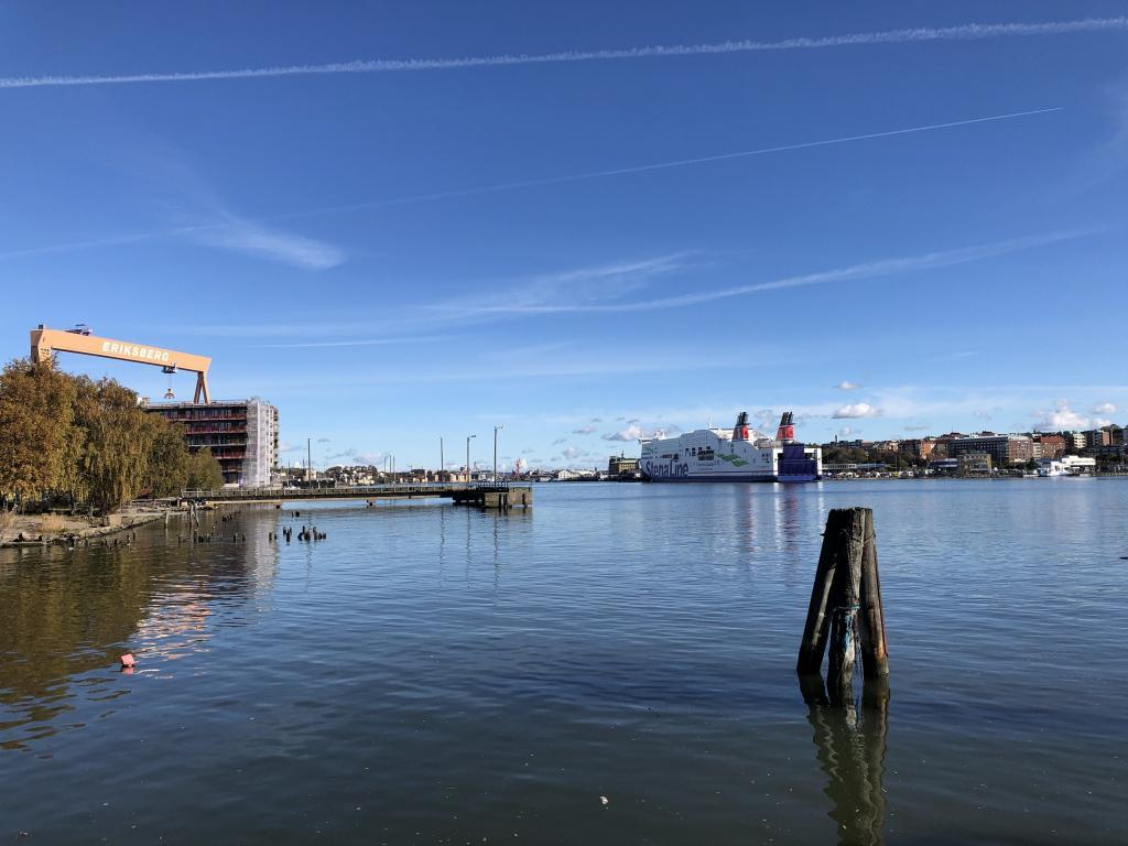 A typical, sunny fall day in Gothenburg. The picture is taken in Färjenäs on the island of Hisingen, where the ferries used to dock before the bridge connected it to the mainland.